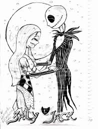 Tim Burtons Nightmare Before Christmas Coloring Pages Nice Free