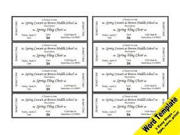 Event Ticket Template Word Free Ticket Template Mayan Host Cards