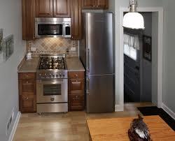 Kitchen Wonderful Small Kitchen Remodel With Unique Tall Fridge