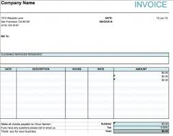 Services Rendered Invoice Adorable Free House Cleaning Service Invoice Template Excel PDF Word Doc