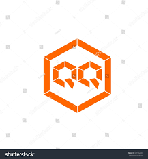 initial letter q orange color logo vector