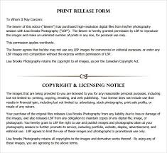 free forms to print print release form template template idea