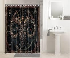 steampunk gears mechanism 3613 shower curtain waterproof bathroom decor
