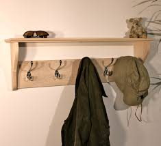 Black Coat Rack With Shelf Black Wooden Wall Mounted Coat Hook And Shelves Having Five Steel 73