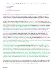 gcse english literature exemplar essays by hollymc  teaching  examplejourneysendessaycolourcodeddocx