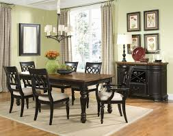 round table simi valley luxury cottage hill nine piece turned leg table and pierced splat back