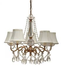 gold arm crystals chandelier 5 silk shades lamp shade pro pertaining to chandelier