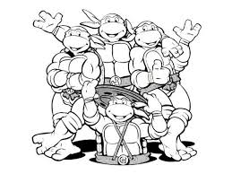 Small Picture Ninja Turtles Coloring Pages regarding Invigorate in coloring page