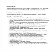 Job Profile Of Document Controller Controller Job Description Template 10 Free Word Pdf
