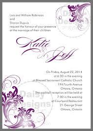 Wedding Invitations Templates Purple Diy Purple And Grey Wedding Invitation Templates More Invitations