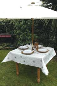 tablecloths for umbrella tables exquisite round patio table tablecloth with hole designs outdoor