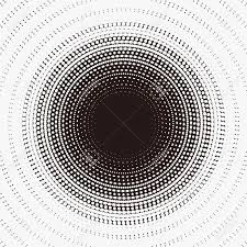 Radiation Design Mysterious Pattern Design With Radiation Circular Dotted Halftone