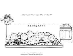 Spaghetti Kid Color Page