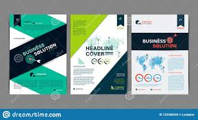 Business Flyer Design Templates Set Of Simple Business Flyer Brochure Flat Design Template