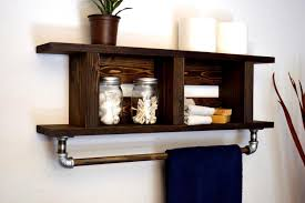 spectacular bathroom shelf towel bar ideas om shelf towel bar ideas