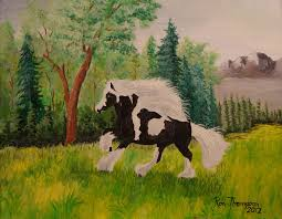 wild painting wild horse by ron thompson