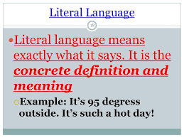 literal language define literal meaning
