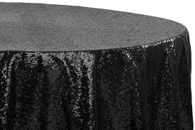 glitz sequins 108 round tablecloth black