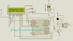 avr microcontroller based temperature monitoring and control avr microcontroller based temperature controller project circuit diagram