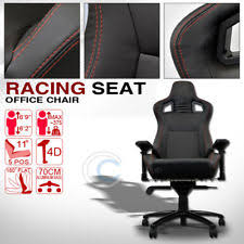dodge viper office chair. MU RACING STYLE PVC LEATHER BUCKET RECLINABLE SEAT CHAIR BLK W/RED STITCHES CL09 (Fits: Dodge Viper) Viper Office Chair E