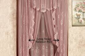 Curtains:Wonderful Burlap Valance For Wondrous Window Curtain Accesories  Ideas Wonderful Lace Swag Curtains Funky