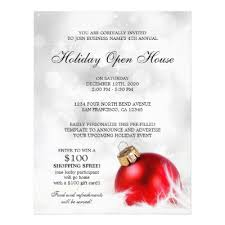 christmas open house flyer festive holiday open house flyer template zazzle ca