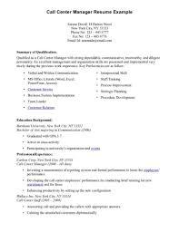Call Center Resume Sample No Experience Templates Resume