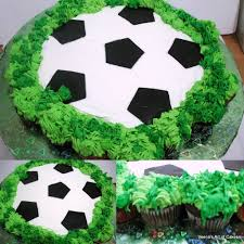 How To Decorate A Soccer Ball Cake Pullapart Cupcake Soccer Ball cake To some of us a pullapart 3