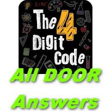 4 Digit Code Answers [All doors] In Single page - Puzzle4U Answers