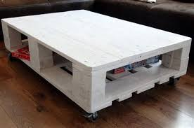 euro pallet furniture. Caster Coffee Table #1 - Euro Pallet With Wheels Furniture