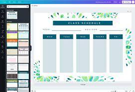Design a Custom Class Schedule in Canva