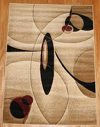 feraghan brand new contemporary modern wavy circles wool area rug 4 x 6