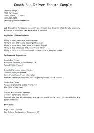 Sample Bus Driver Resume Resume Sample Bus Driver Position For