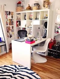 home office decorating ideas. Good Using White L Shaped Desk With Hutch For Modern Home Office Decor In Decorating Ideas N