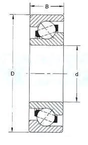 Angular Contact Ball Bearing Size Chart 7415 B