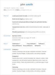 Free Simple Resume Templates As Resume Builder Free Sonicajuegos Com