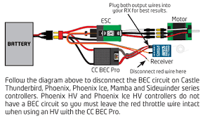 castle bec pro switching regulator cseccbecpro it is ideal for most electric helis 500 size and larger it will also work well in larger electric powered rc aircraft and rc crawlers and monster trucks