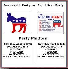 Differences Between Republicans And Democrats Chart 2016