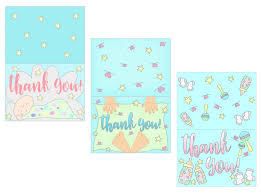 Free Printable Thank You Postcards Baby Shower Thank You Cards Free Printable