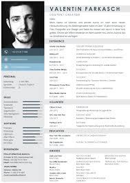 Resume Styles CreativeTies100 Resume Styles Valentin Farkasch 46