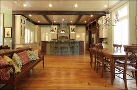 the custom kitchen beams are constructed of 1 2 exteriors from reclaimed beams