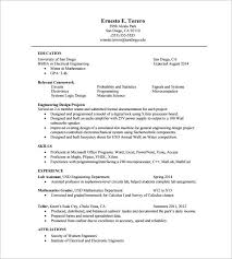 One Page Resume Templates Download 1 Page Resume Template Throughout ...