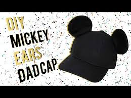 diy mickey mouse ears dad cap super easy i a crafter in training you