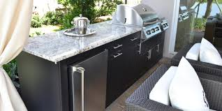 premium polymer outdoor kitchen with granite counter tops