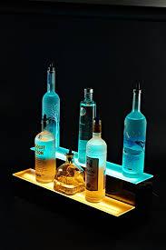 Bar Bottle Display Stand Custom Amazon Bottle Stand Two Tier LED Lighted Liquor Bottle Display