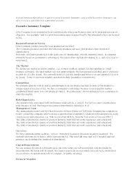 Executive Summary Sample For Proposal Company Executive Summary Template Executive Summary