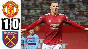 1:0 • ham • highlights • man • match • united • vs • west. Takb7 73jfy0rm