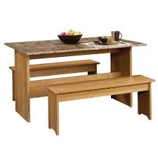 Sauder Kitchen Furniture Sauder Beginnings Highland Oak 53in Trestle Table 413421