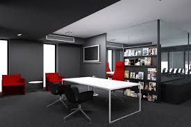 F Office Interior Design For A Bright Busy Day