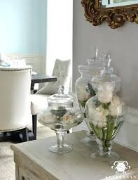 Glass Bowl Decoration Ideas Glass Decor Idea Ways To Style Apothecary Jars Glass Bowl Table 59